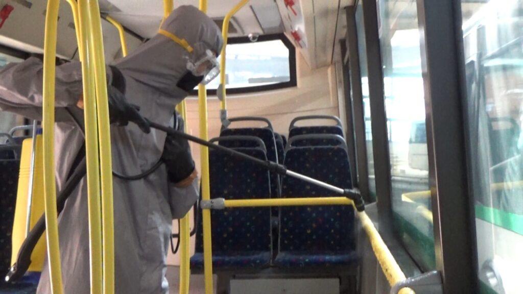 Нұр-Сұлтанда автобус парктері мен автобустар ауқымды дезинфекциядан өткізілді