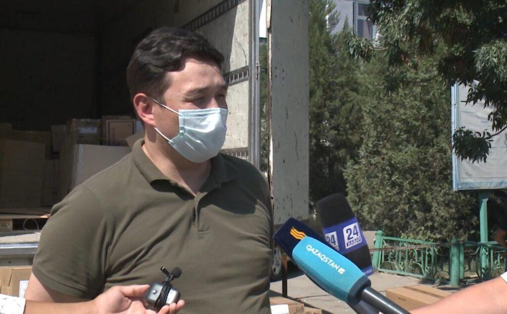 Түркістанға 2 тонна дәрі-дәрмек жеткізілді