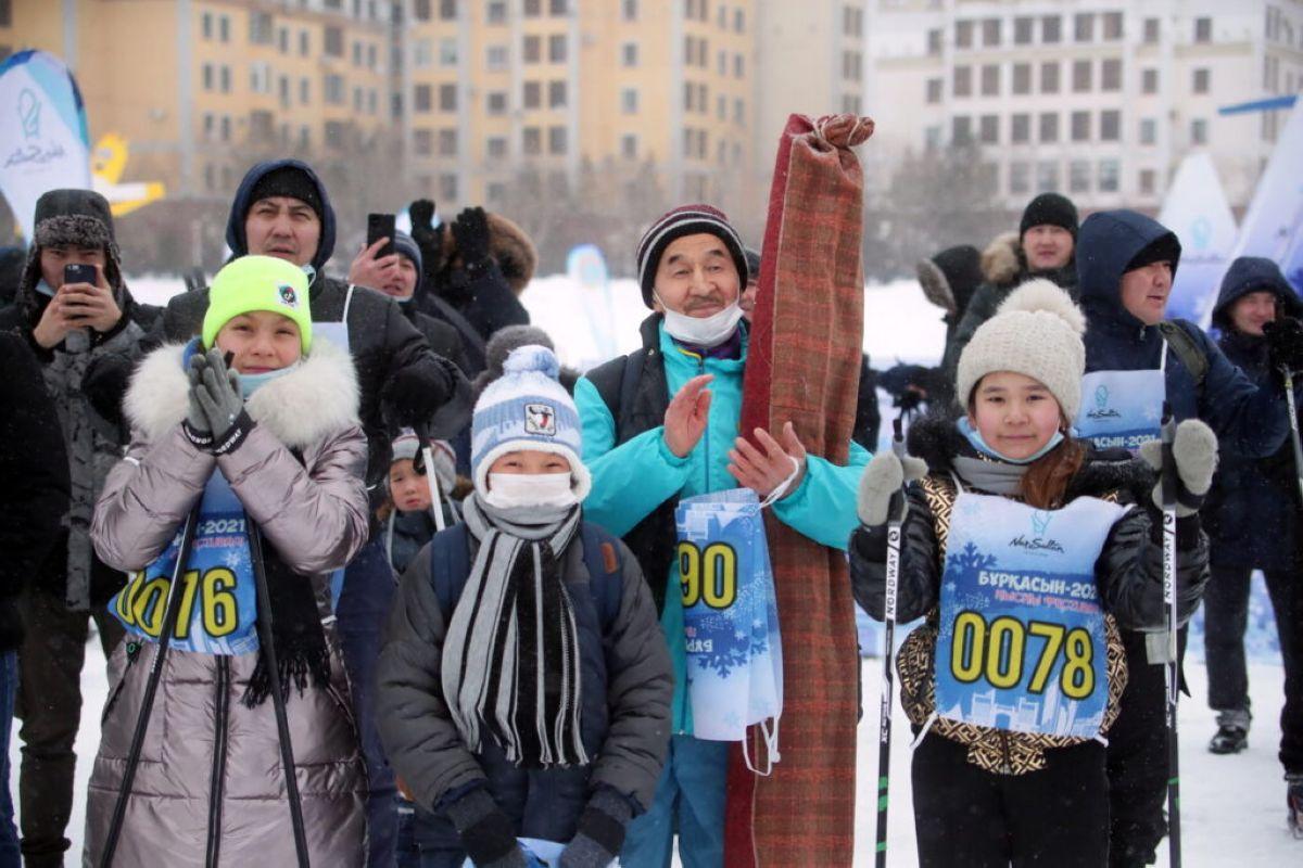 Елордада дәстүрлі «Бұрқасын-2021» қысқы фестивалі өтті