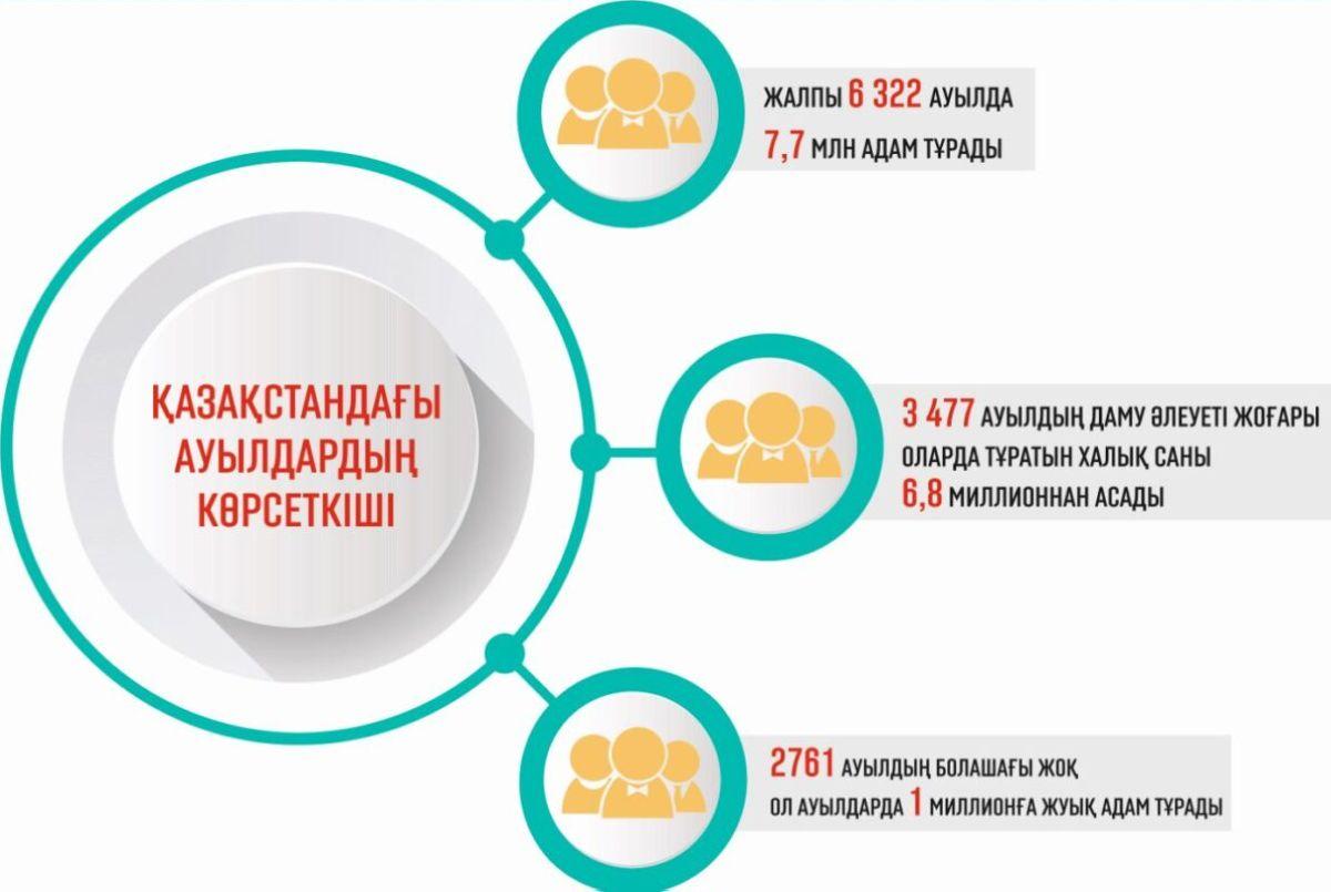 инфографика ауыл