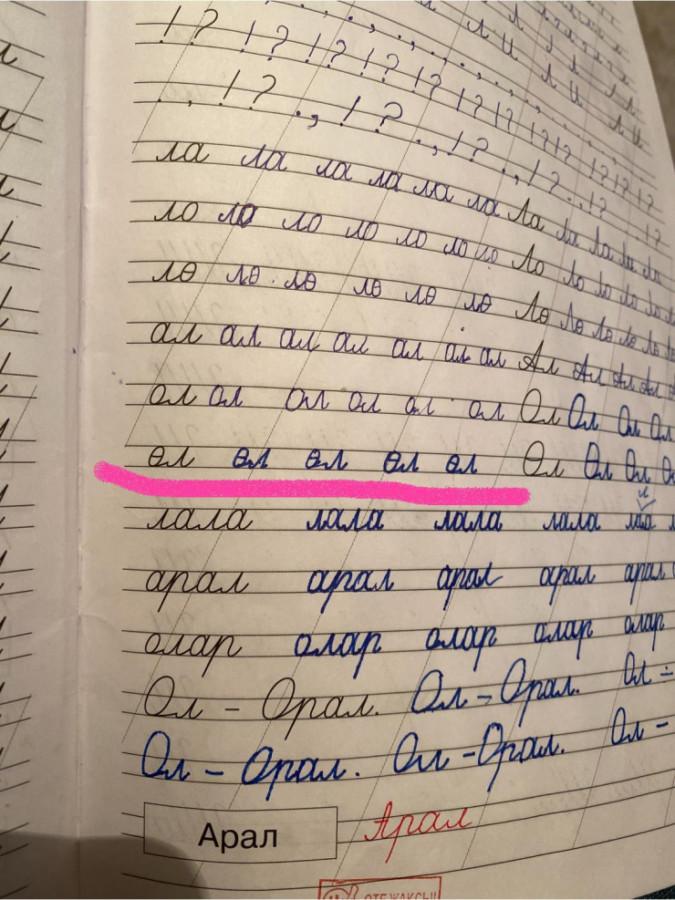 «Өл» деп жазуға тапсырма берген» – 1-сыныптың жазу дәптеріне қатысты министрлік өкілі пікір білдірді